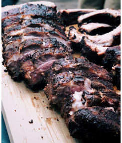 Slab of BBQ ribs