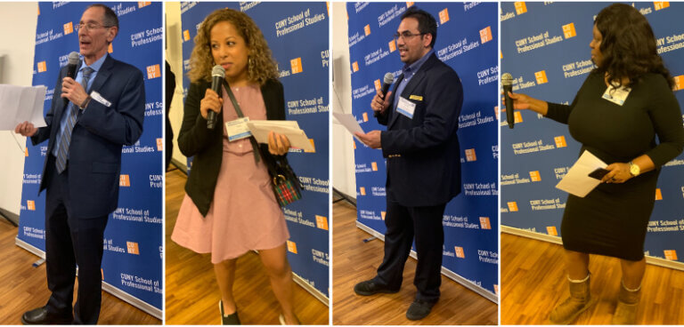 Dean Mogulescu, Tara Santos, Rohan Ketwaroo, and Shakima Williams-Jones at the Spring Reception