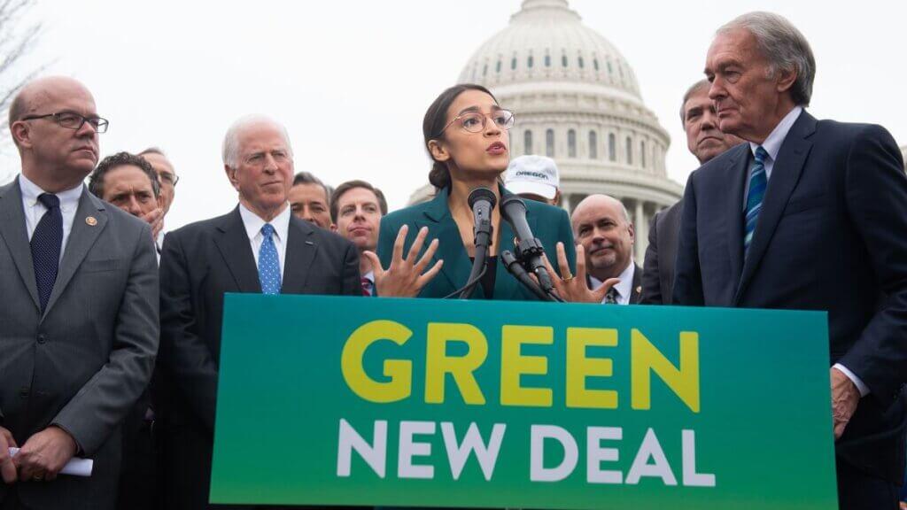 politicans at podium