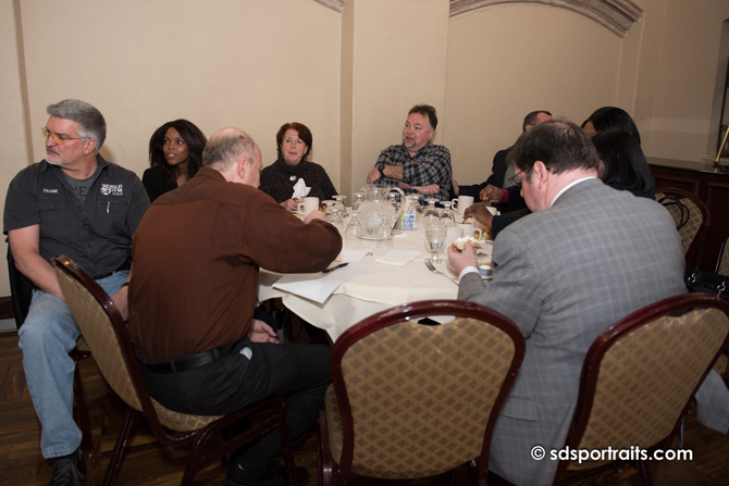 people at a table