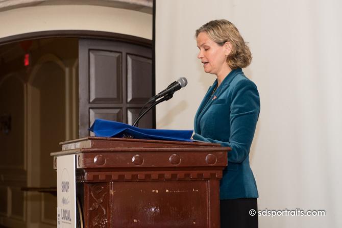 Laura Curran speaking