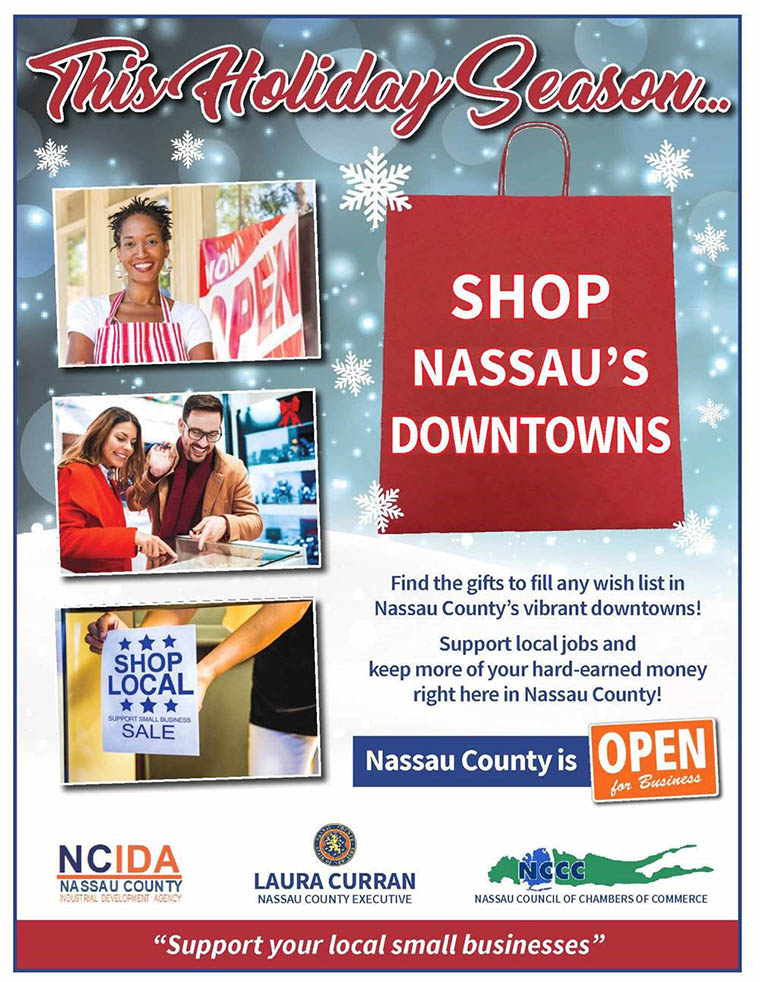 Shop Local holiday flyer