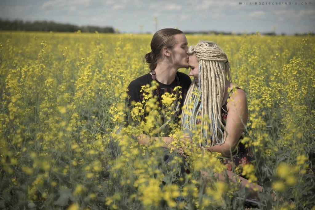 015-Edmonton Canola Field Engagement Couple Photography Session-