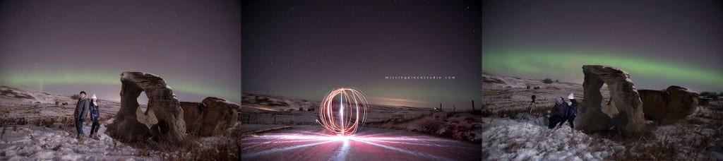 Edmonton Calgary Airdrie Aurora Northern Lights Light painting-_0009