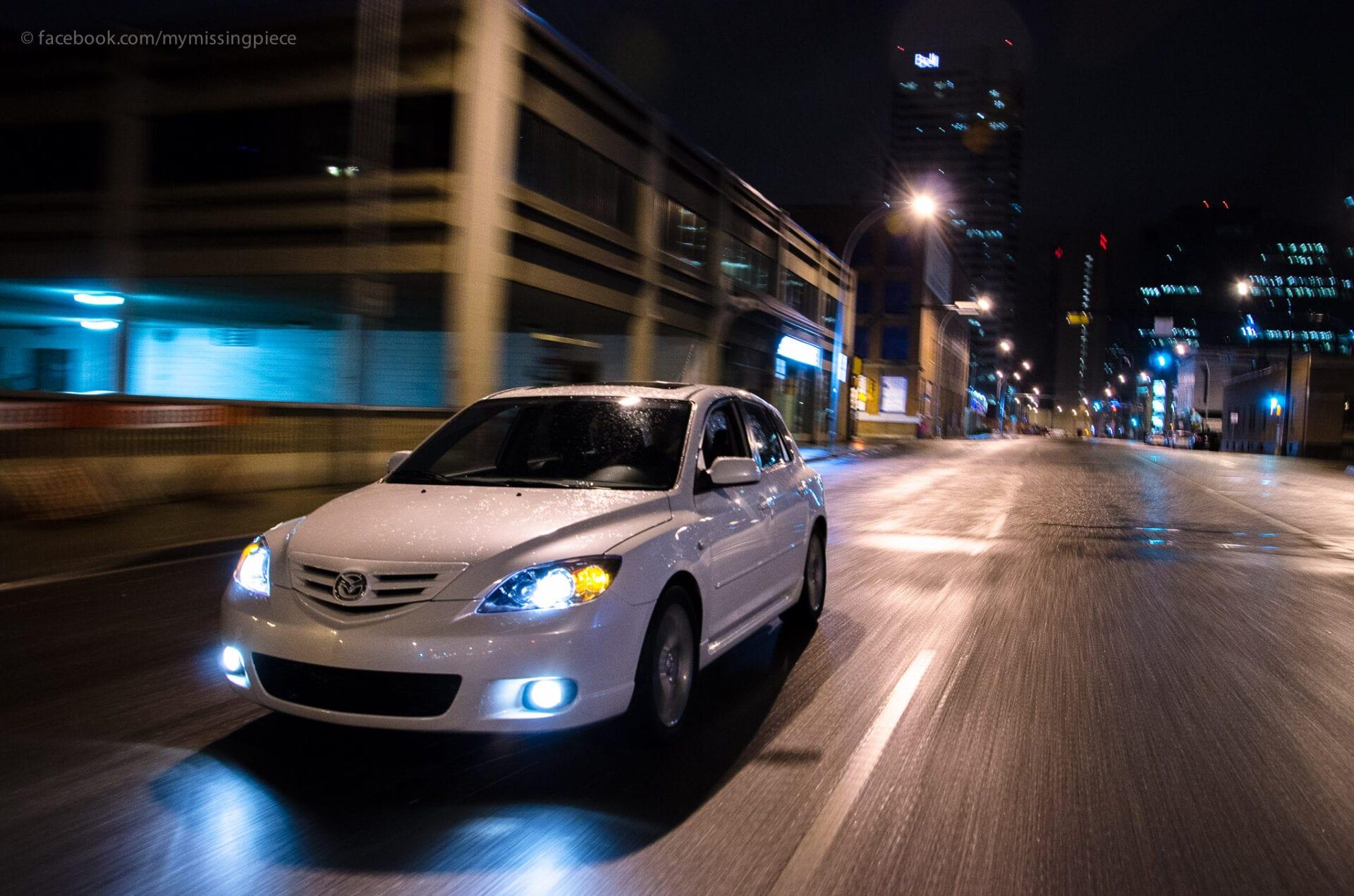 Car speeding down Edmonton Jasper