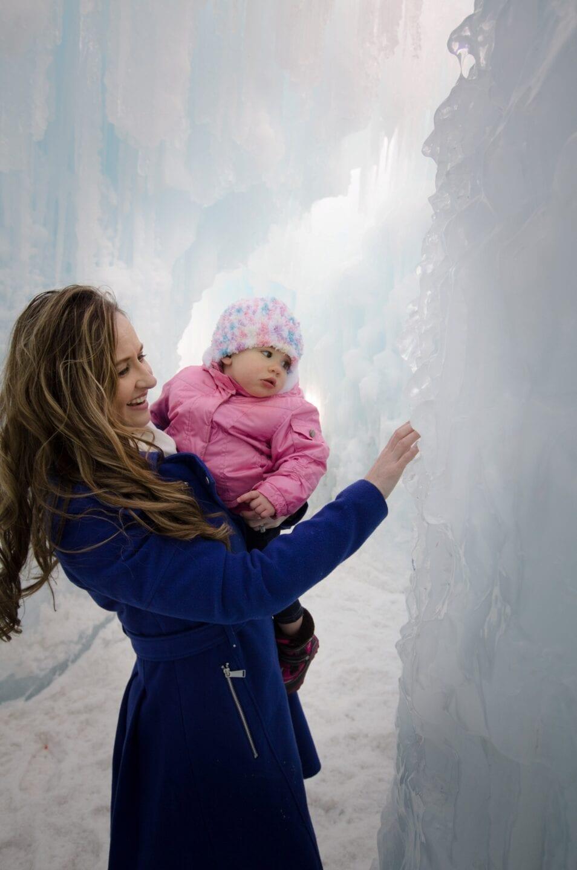 Edmonton Frozen themed family Portrait Photography Ice Castles