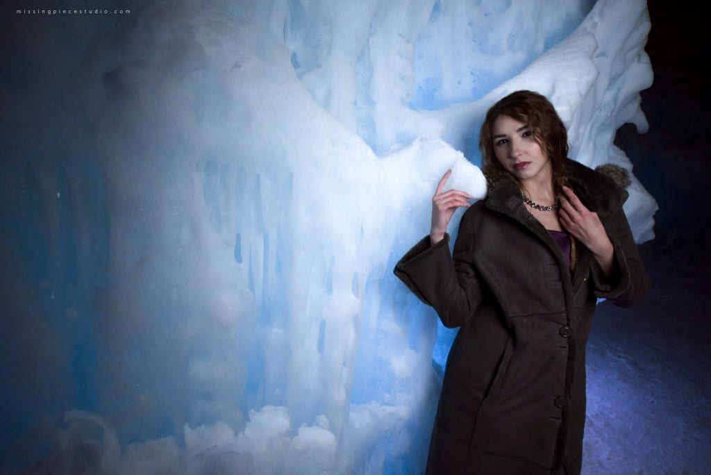 Ice Queen Fashion photo shoot at the Ice Castles.