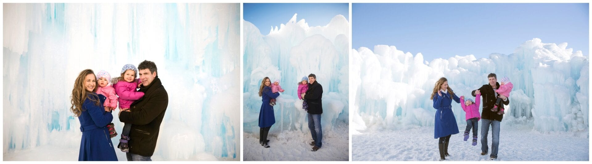 Edmonton Winter Family Outdoor Portrait Photography at the Ice Castles
