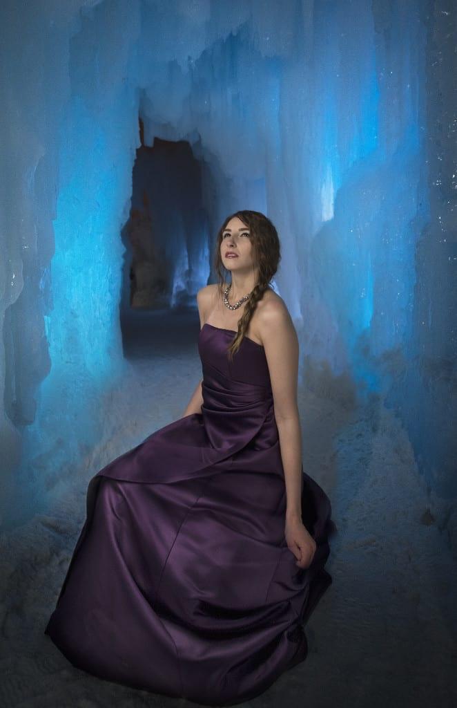 The beautiful grad dress steals the spotlight at the Edmonton Ice Castles tonight