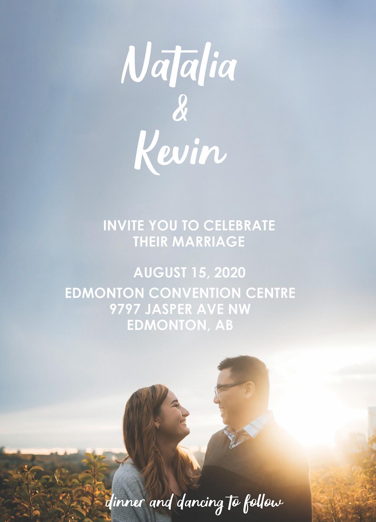 Fall edmonton wedding invitation engagement