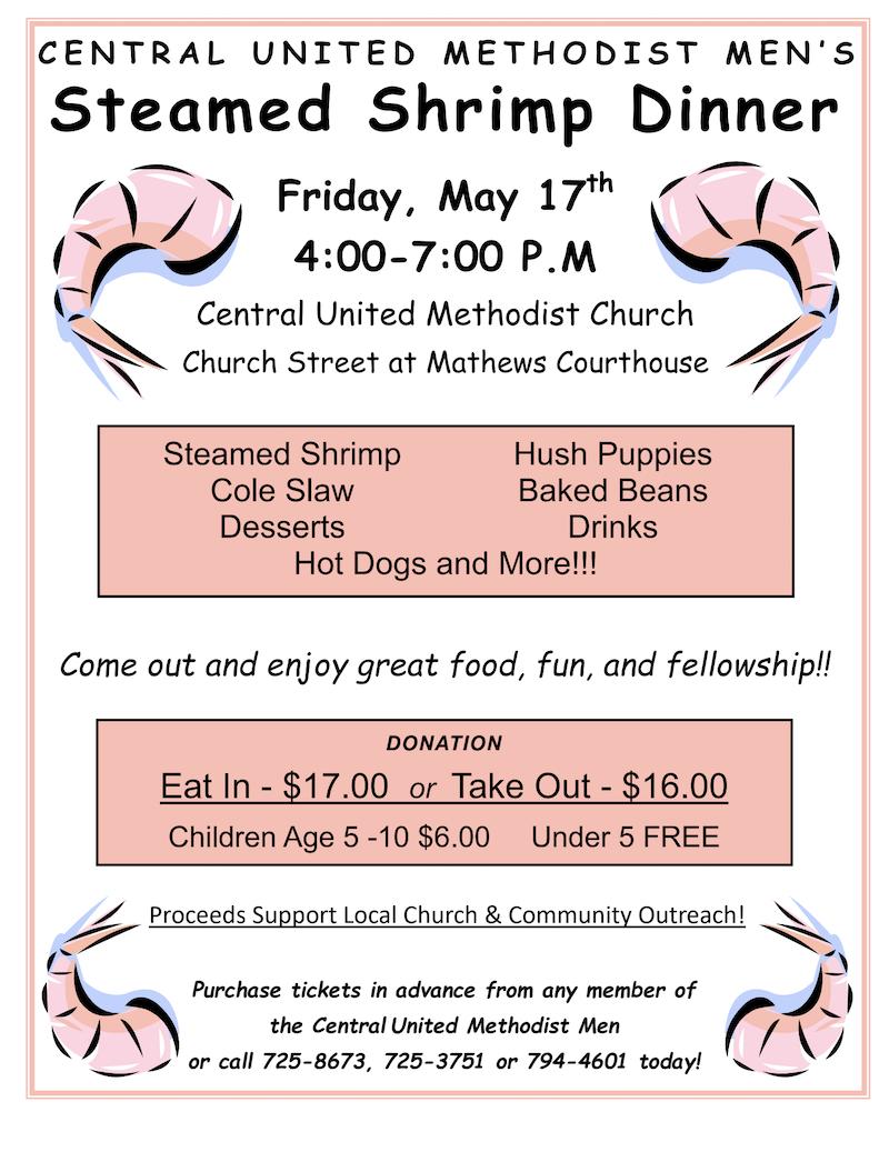 Central United Methodist Church Shrimp Dinner