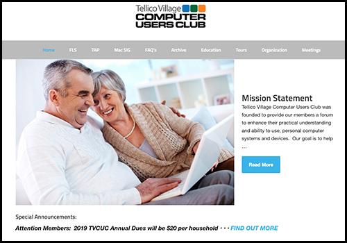 Tellico Village Computer Club Website