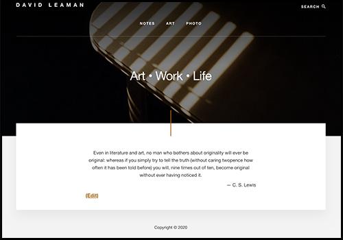 David Leaman Artist website