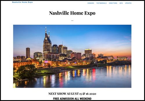 Nashville Home Expo Website