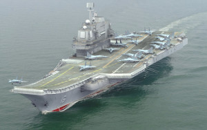 Chinese aircraft carrier Liaoning-CV-16 has docked at the Syrian port of Tartus, accompanied by a guided-missile cruiser.