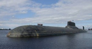 Russia world's largest submarine Typhoon with enough Nukes to destroy half the world is docked in Syria.