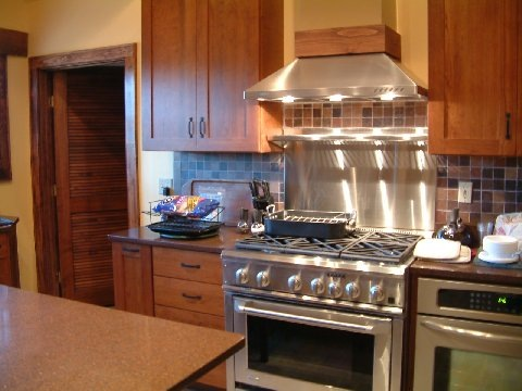 full_kitchen with stove