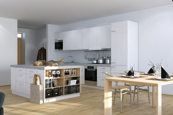 Scandinavian-Studio-Apartment-kitchen-with-open-plan-dining-and-storage-island