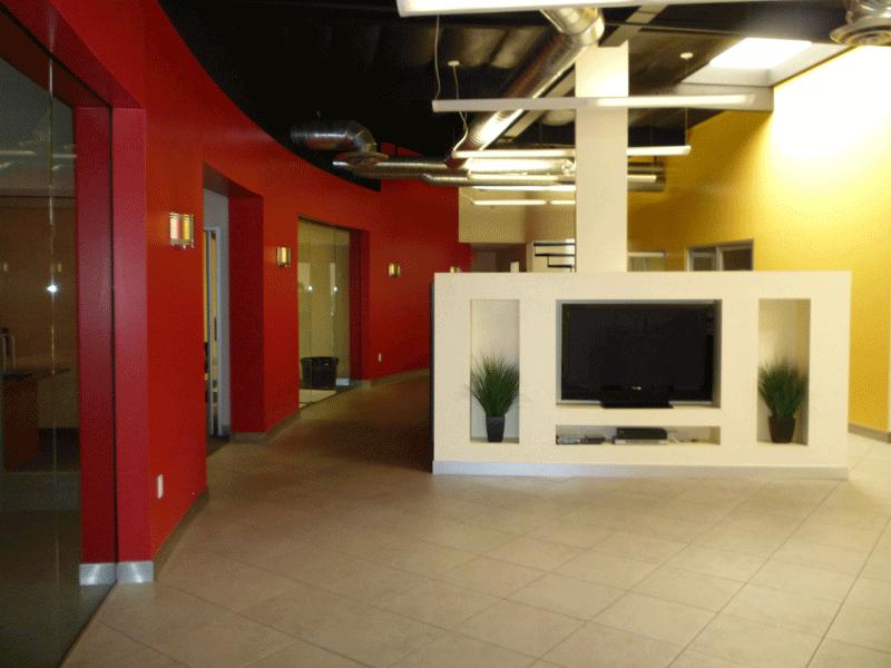 high energy office break area