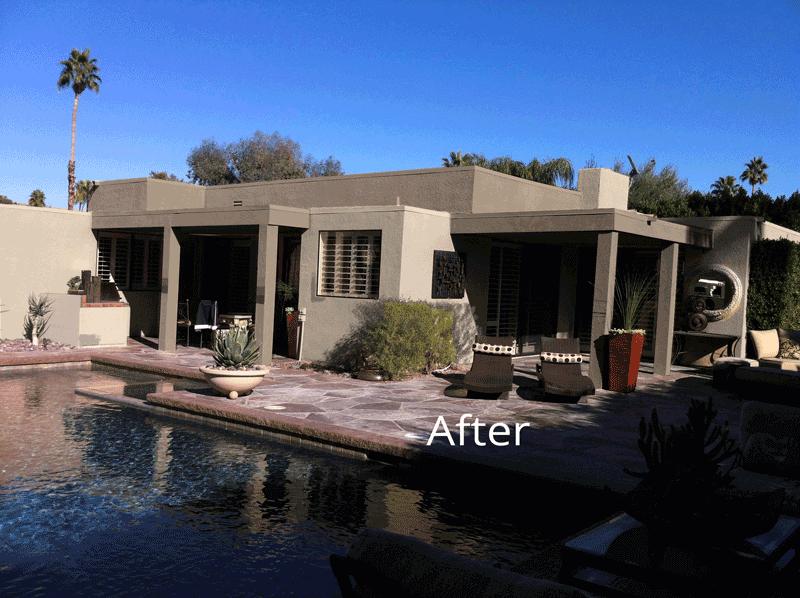 Desert Home Back - After Paint job