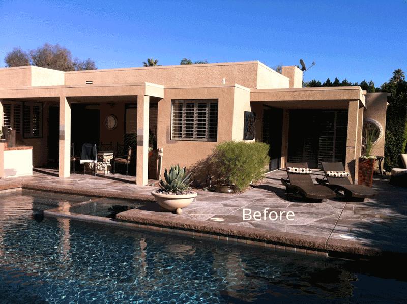 Desert Home Back Before Paint job