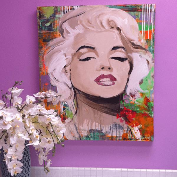 Lavender Bathroom Walls Accent Art