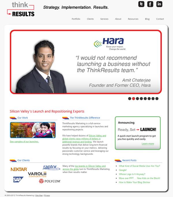 ThinkResults Marketing website