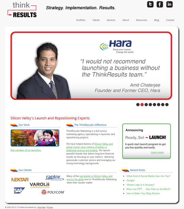 ThinkResults Marketing website