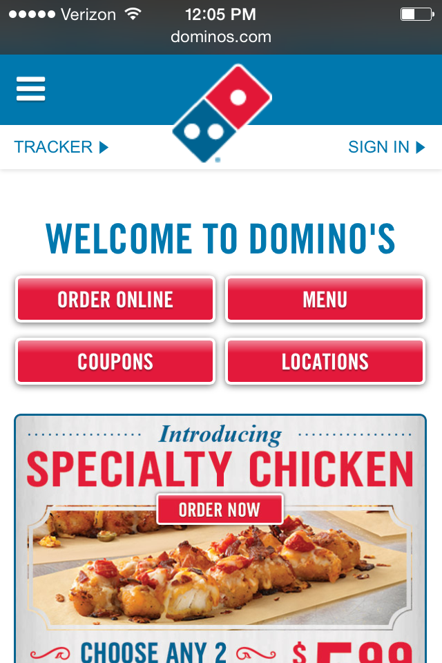 dominos mobile