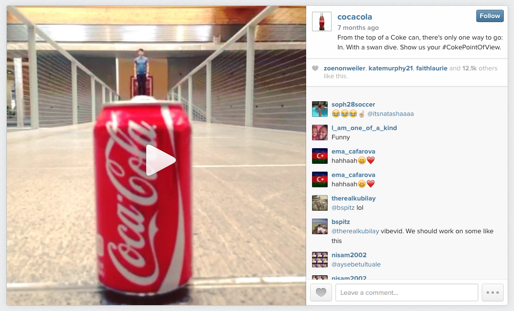 Coca Cola Instagram Video
