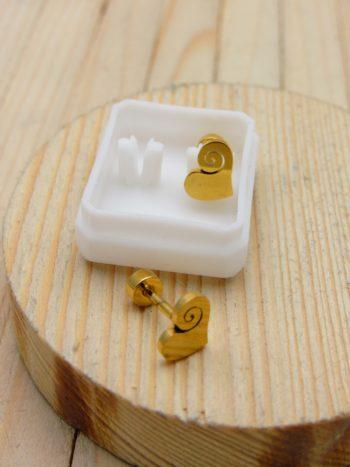 arete dorado aretes seguridad (3 pares)