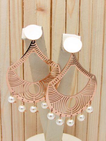 aretes rosado perlas