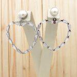 candongas plateado perlas|zircones blanco