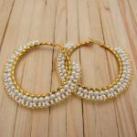 candongas dorado perlas blanco