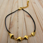 tobillera dorado cordon