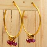 candongas dorado zircones rojo SKU2092