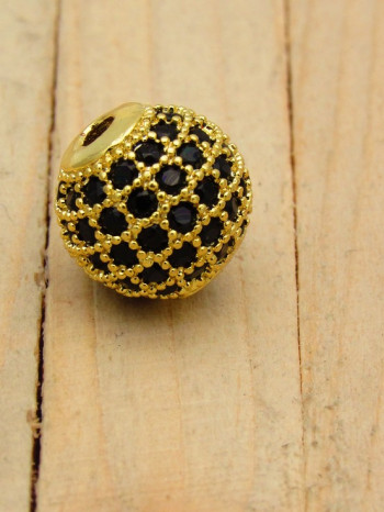 cover gold palteado zircones negro SKU2101