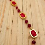 pulseras dorado cristales|zircones rojo  2cm SKU2272