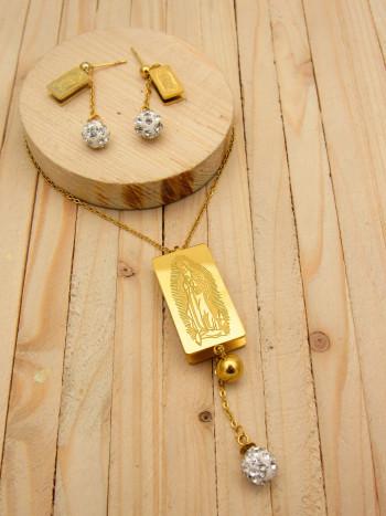 juego dorado perlas