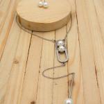juegos plateado perlas blanco  3cm SKU2282