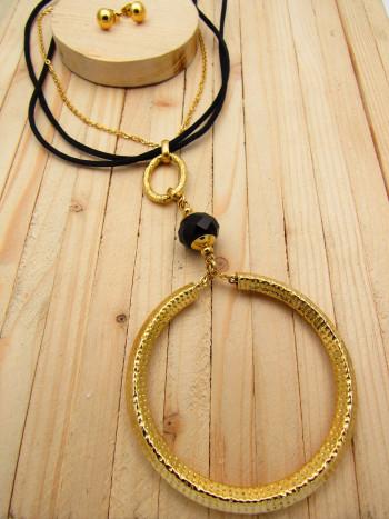 juegos dorado cristales  negro  7cm SKU2293