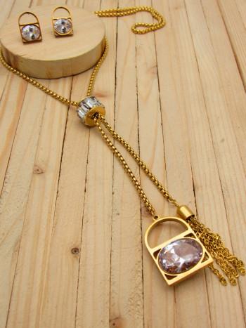 juegos dorado zircones blanco  2cm SKU2295