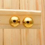 aretes dorado 10mm bola soplado