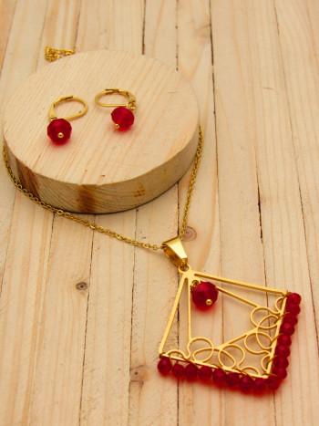 juegos dorado cristales rojo
