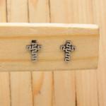 aretes plateado   (3 pares)