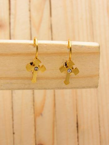 aretes dorado   (3 pares)