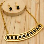 juegos dorado zircones negro