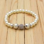 pulseras plateada perlas