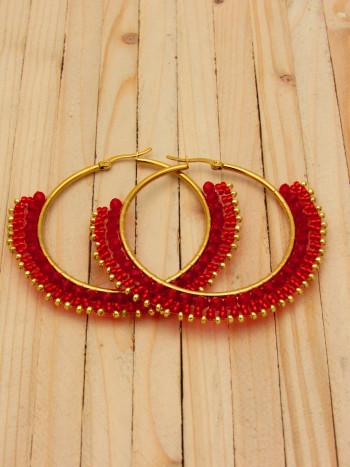 candonga dorada 50mm cristales roja