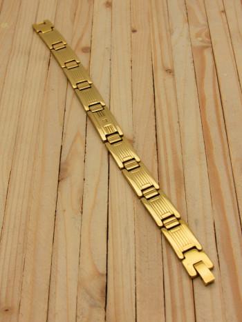 pulsera dorado hombre